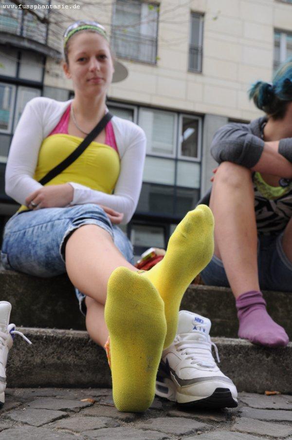 Dirty fetish girl sock