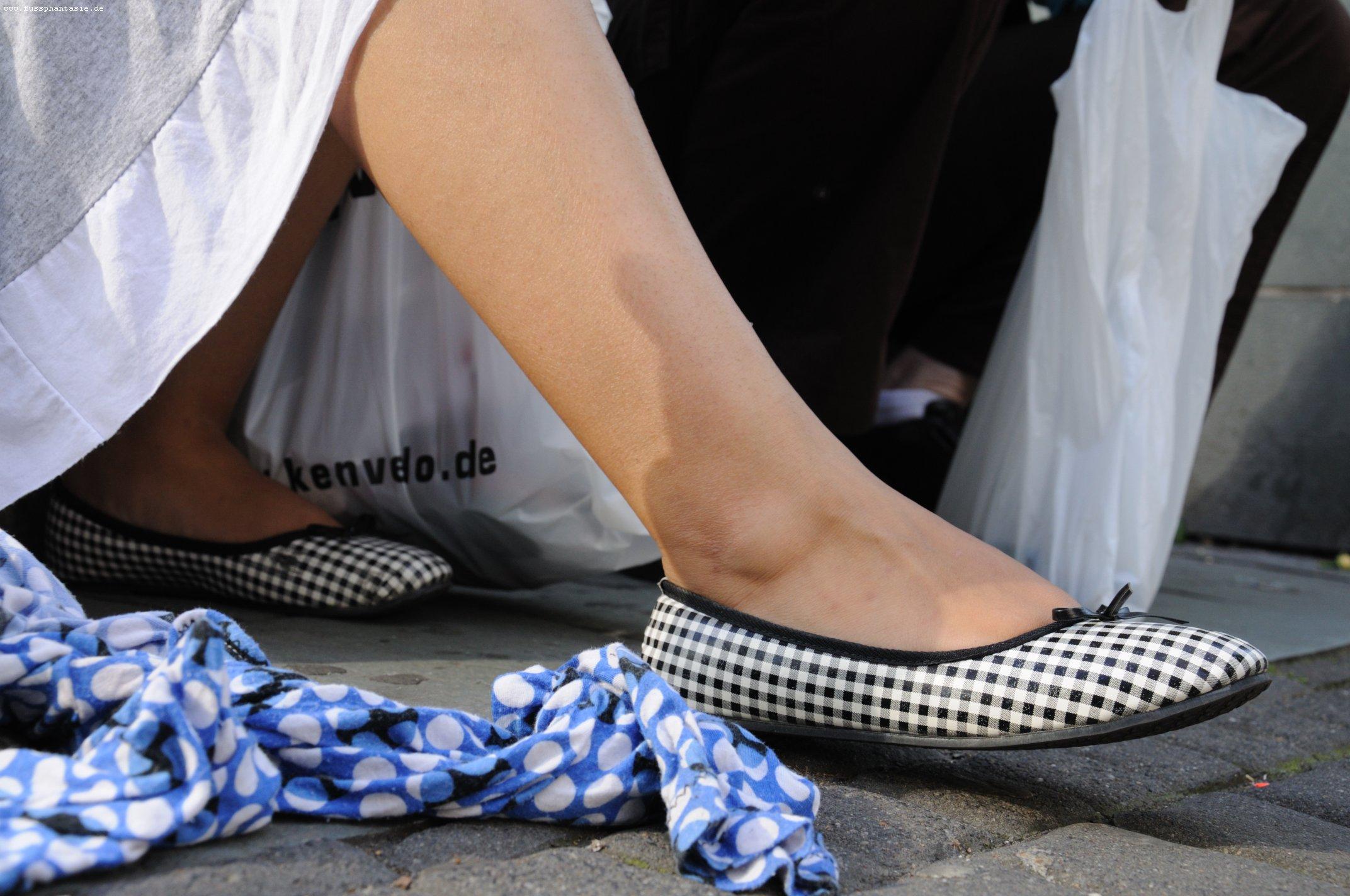 Foto Fußfetisch und Sandalen